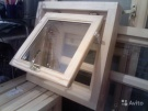 Банные окна из сосны и липы