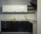 Кухня Постформинг черно-белый Лотос (погонный метр)