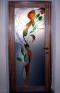 Межкомнатная стеклянная дверь с графикой - накладной витраж (м2)