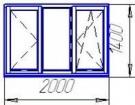 Трехстворчатое пластиковое окно VEKA Softline (5 камерный профиль)