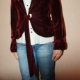Мягкий, приятный к телу бордовый, бархатный пиджак, Новосибирск