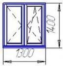 Пластиковое окно VEKA Softline (5 камерный профиль)