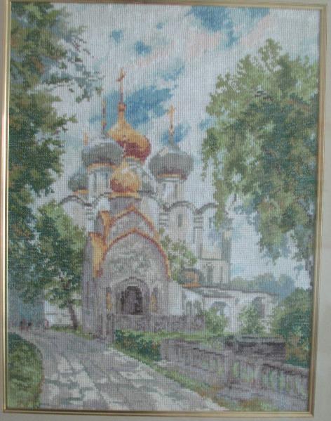 Чудесная игла 75-03 - Новодевичий монастырь - 20 Апреля 2010 - Блог - Схемы для вышивки, рукоделие.