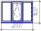 Трехстворчатое пластиковое окно VEKA Euroline