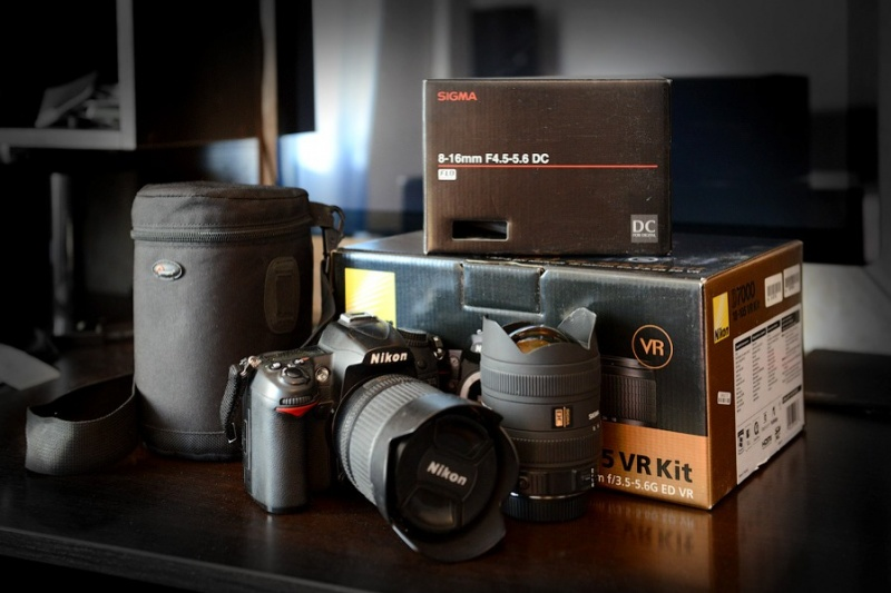 ...Nikkor 18-105mm + Sigma 8-16 mm + сумка под объектив + карта SD 8 Gb.