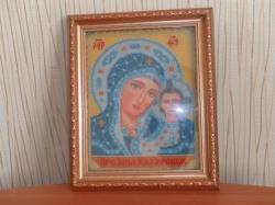 Икона вышитая бисером и освящённая в церкви имеет...  Рассрочка.