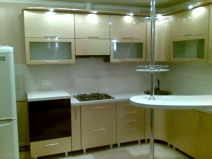 кухонный гарнитур угловой с барной стойкой фото
