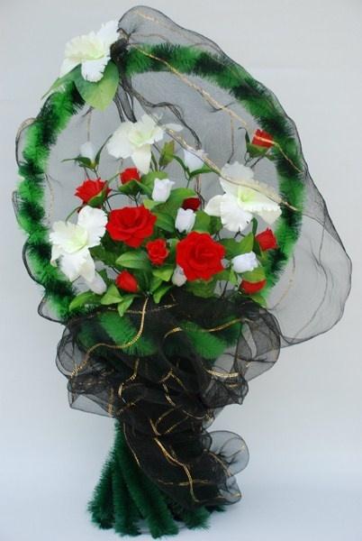 Венки и цветы своими руками ритуальные