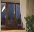 Деревянное евроокно трехстворчатое из сосны для кирпичного дома