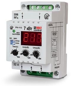Однофазное РЕЛЕ НАПРЯЖЕНИЯ РН-113 сконструировано для защиты техники от недопустимых колебаний электричества.