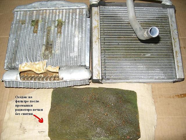 Промывка радиатора печки без снятия своими руками