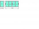Г-образный балкон  1500х4000х1000мм