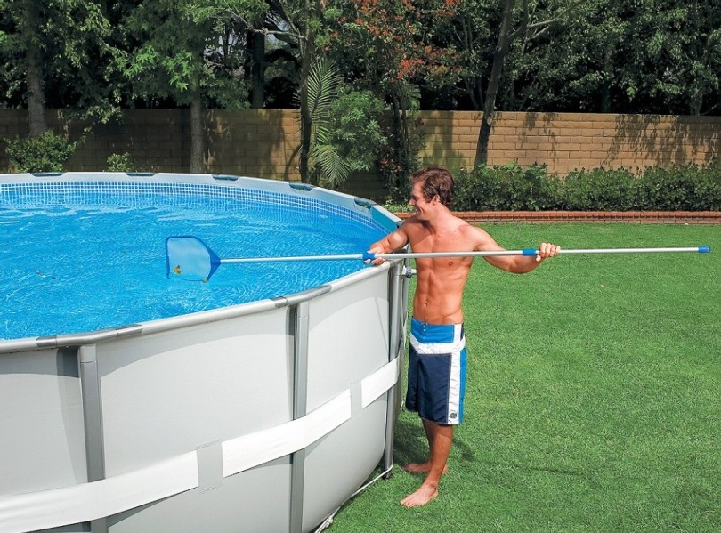 Ремонт каркасного бассейна интекс