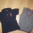 2 футболки поло и жилетка, для мальчика 8-9лет, Новосибирск