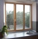 Деревянное окно трехстворчатое из сосны для панельного дома (акция!)