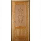 Дверь межкомнатная,  модель Диана,  (пр-во фабрики Зодчий)  натуральный шпон Орех