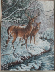 Набор для вышивания крестом Creekside Deer ( Олень в лесу) .