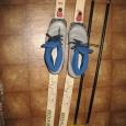 Лыжи беговые 195 см , ботинки, палки лыжные, Новосибирск