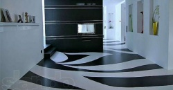 наливные полимерные полы в квартире.