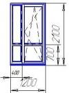 Балконный  двери VEKA Euroline для панельного дома