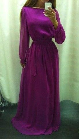 Платье шифон в пол своими руками