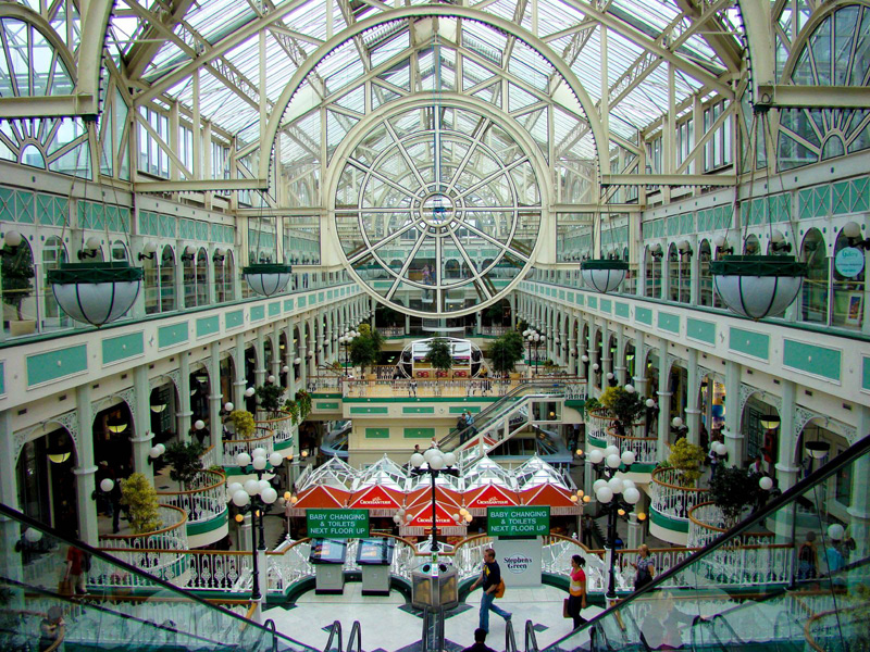 Внутри St. Stephen's Green Shopping Centre. Дублин. Фото: travelmuse.com