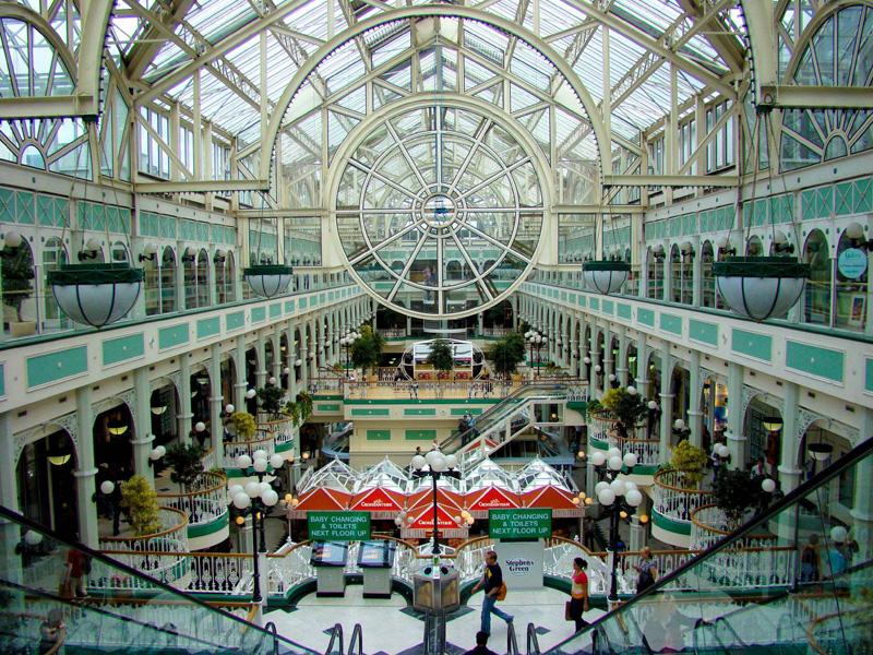 Внутри St. Stephen's Green Shopping Centre. Дублин. Фото: travelmuse.com