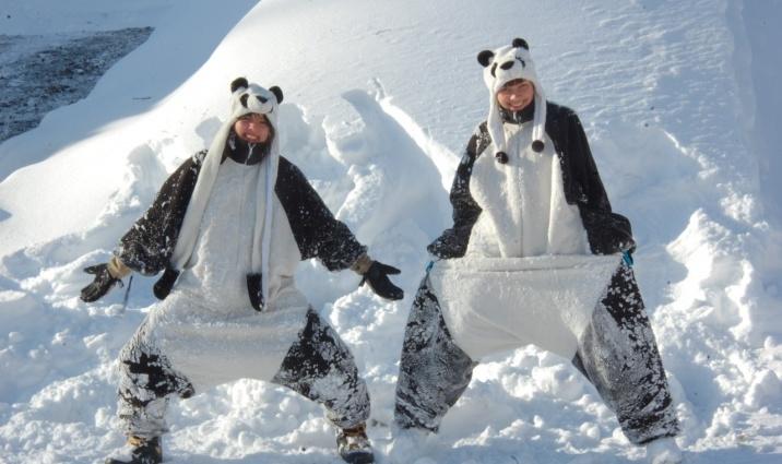 Как панды Шерегеш веселили