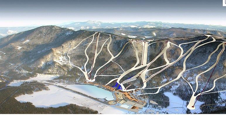 Схема трасс (проект). Фото:  www.free2ride.ru