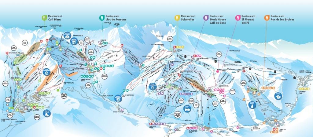 Схема трасс курорта. Источник: pas-de-la-casa-grau-roig.andorramania.com
