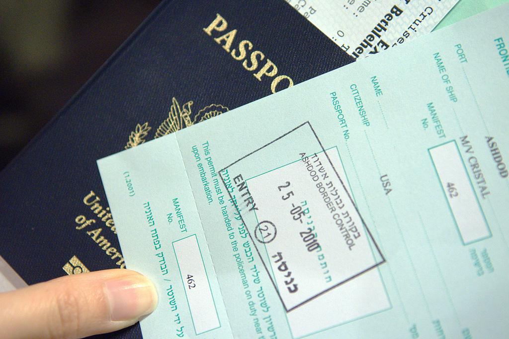 Израильская виза. Автор: george ruiz. Фото:  www.flickr.com