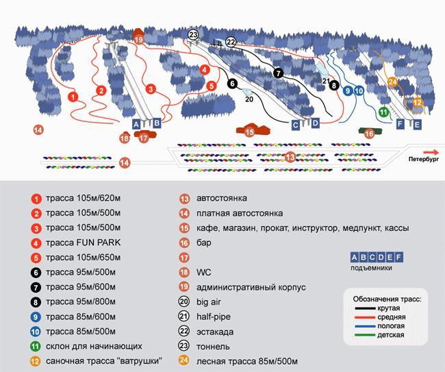 Схема трасс. Фото: zoldol.ru