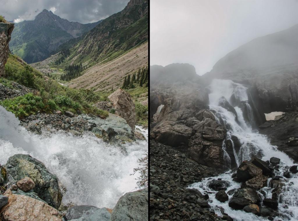 Терскей Ала-Тоо. Водопад на сливе озера Ала-Куль. Автор: Денис Емелин