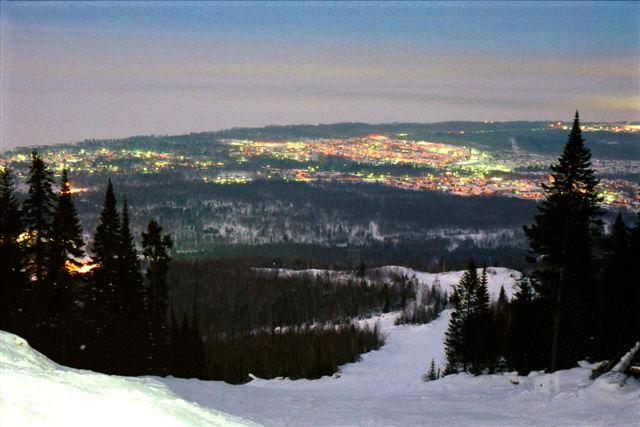 На склоне, вид на Байкальск