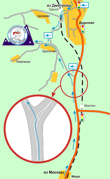 Схема проезда. Фото: www.shukolovo.ru