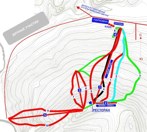 Схема трасс ГЛ курорта. Фото: www.zavjalikha.su