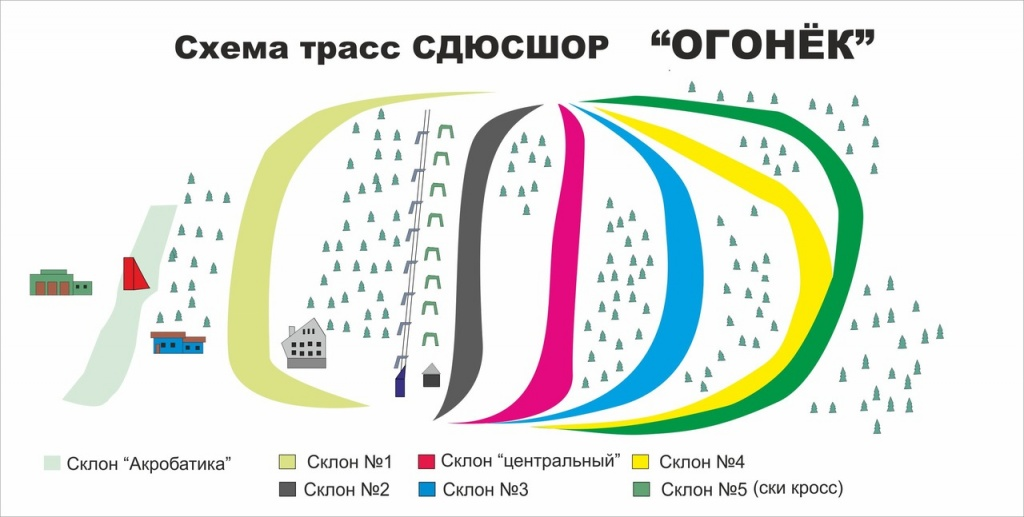 Схема трасс комплекса «Огонёк». Фото: vk.com/club31972545