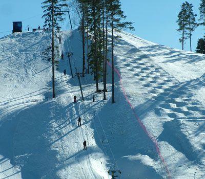 Вид на трассы для спортстменов. Фото: www.krasnoeozero.ru