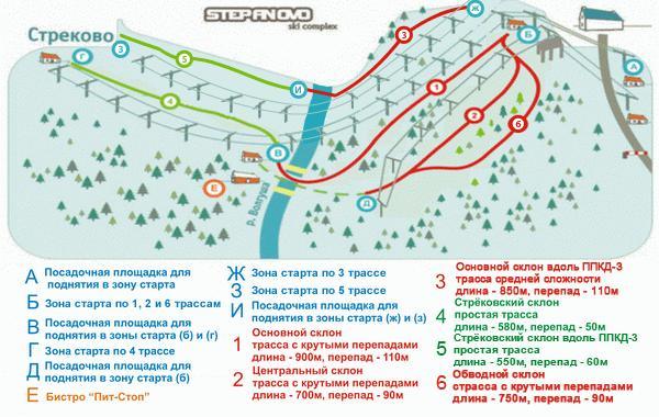 Схема трасс «Степаново». Фото: www.volen.ru