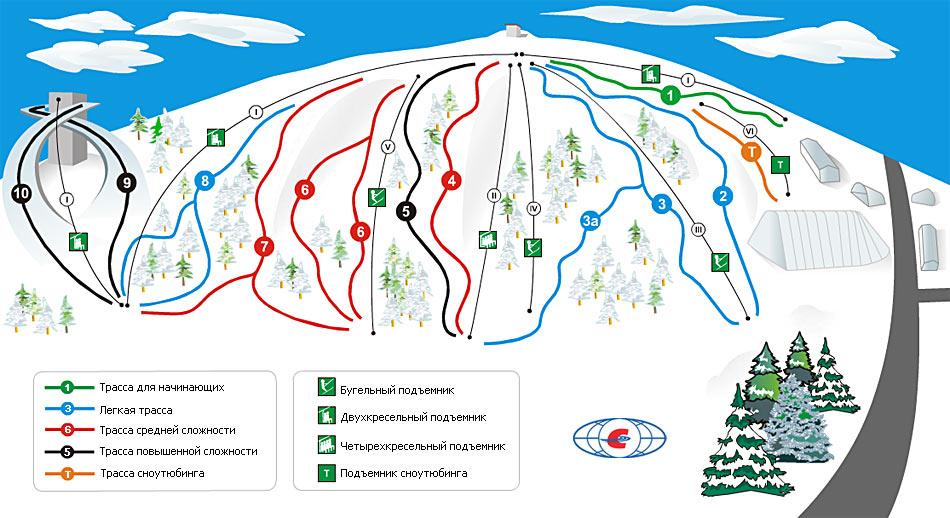 Схема трасс. Фото: www.sorochany.ru