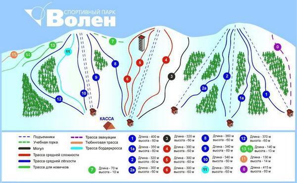 Схема трасс СП «Волен». Фото: www.volen.ru