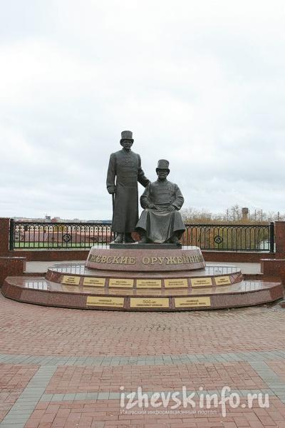 Памятник ижевским оружейникам. Фото:  www.izhevskinfo.ru