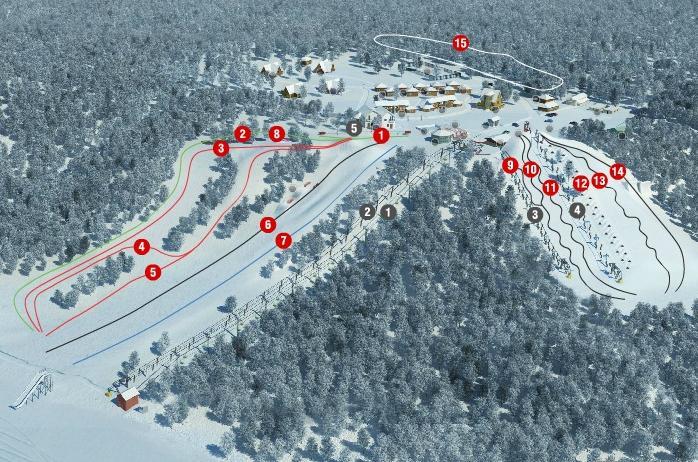 Схема трасс. Фото: www.krasnoeozero.ru