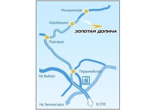Схема проезда. Фото: zoldol.ru