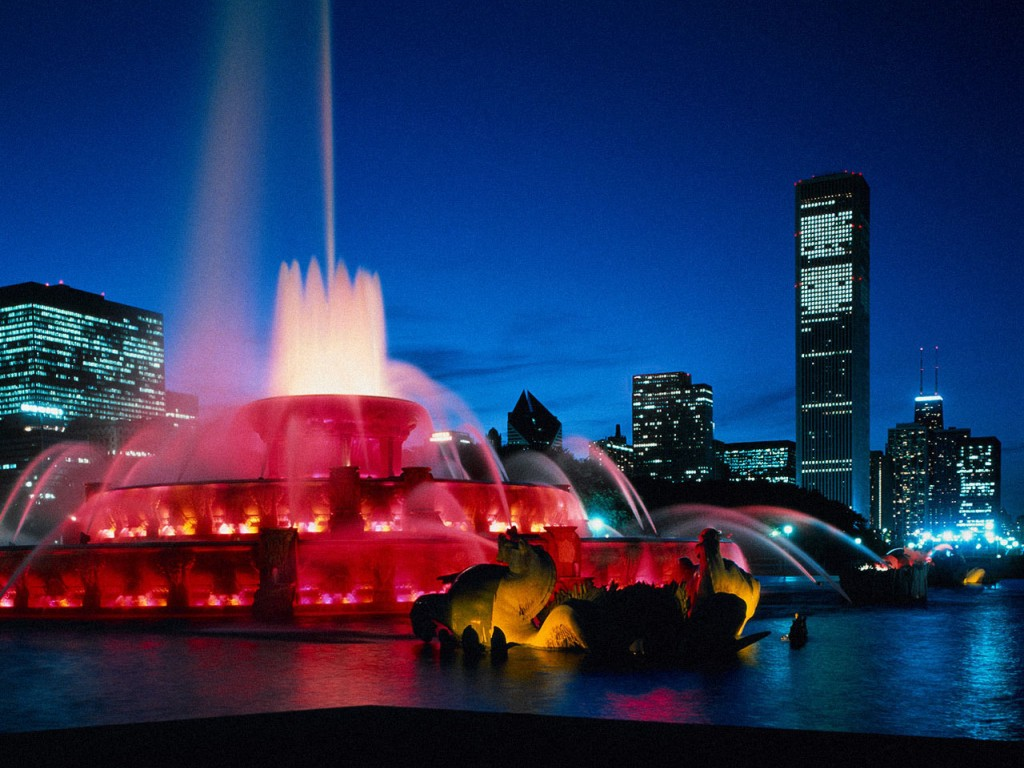 Букингемский фонтан. Чикаго. Фото: glavs.com
