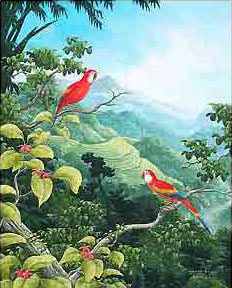 Традиционная балийская живопись. Фото: kesian.com