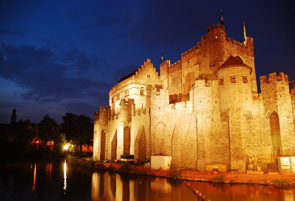 Замок Гравенстин. Гент. Фото: nice-places.com