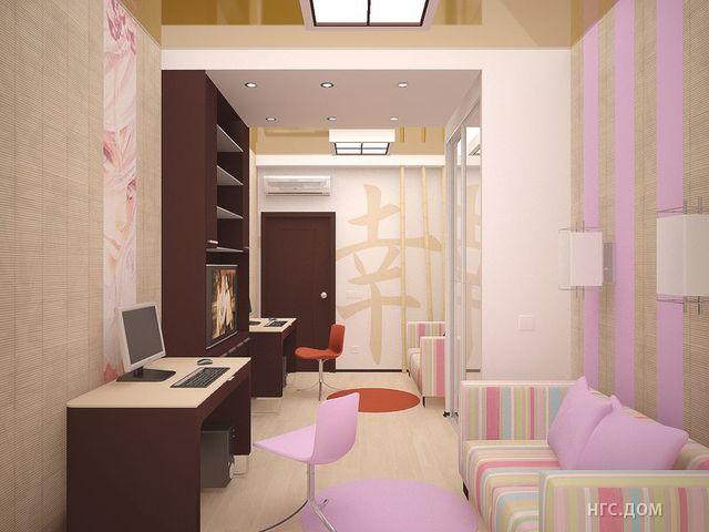 """Комната 12 кв метров дизайн """" современный дизайн."""