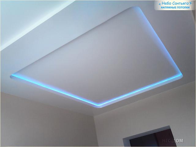 Как сделать освещение при натяжных потолках