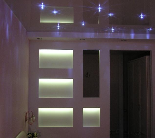 Ниша в стене как сделать светодиодную подсветку